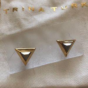 Trina Turk Triangle Stud Earrings
